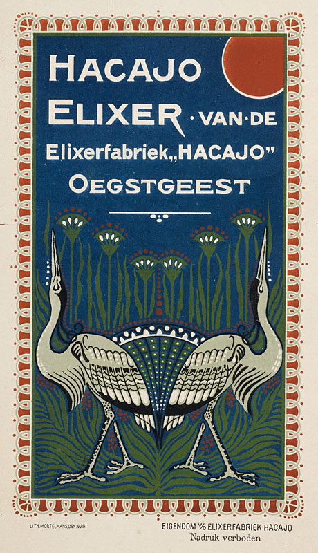 Advertentie Hacajo Elixer - litho Mortelmans Den Haag (ca. 1905)