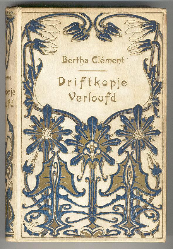 Driftkopje verloofd - Bertha Clément, bandontwerp: Cornelia van der Hart (ca. 1905)