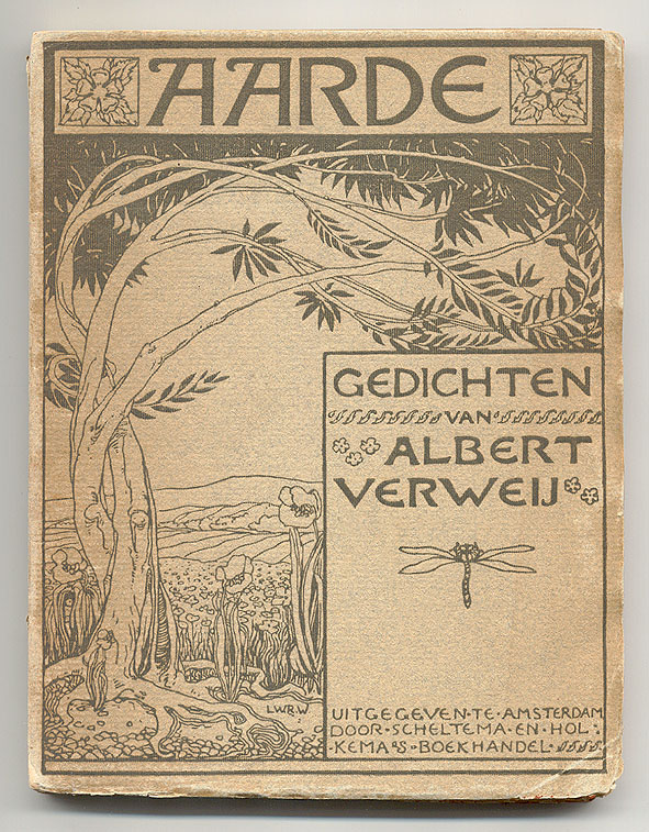 Aarde - Gedichten van Albert Verweij, omslagontwerp: Willem Wenckebach (1896)