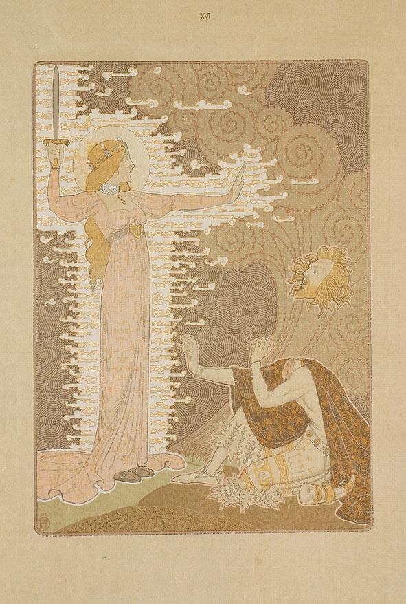 Illustratie uit Dat Liedekin van Heere Halewine, Henricus Jansen (1904)