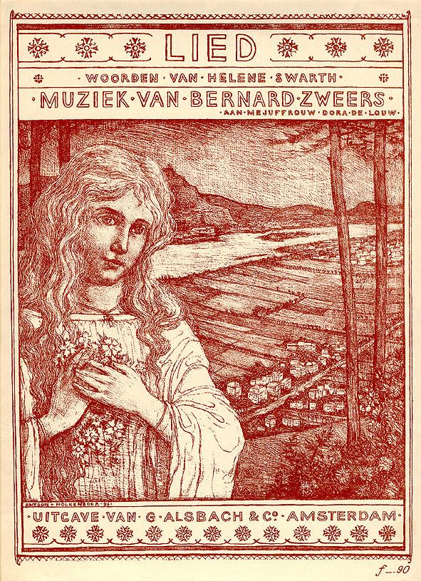 Muziekblad - Lied, ontwerp: Antoon Molkenboer (1897)