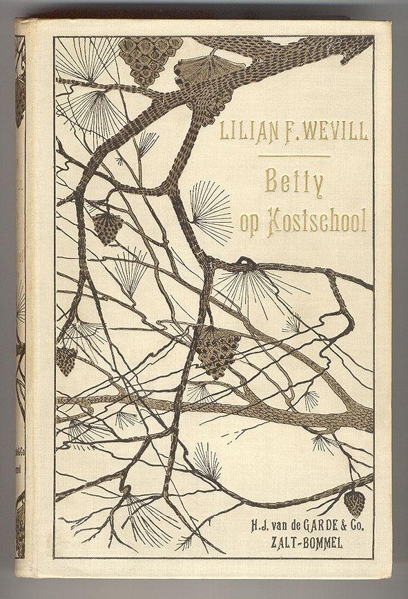 Betty op kostschool - Lilian F. Wevill (ca. 1905), bandontwerper onbekend