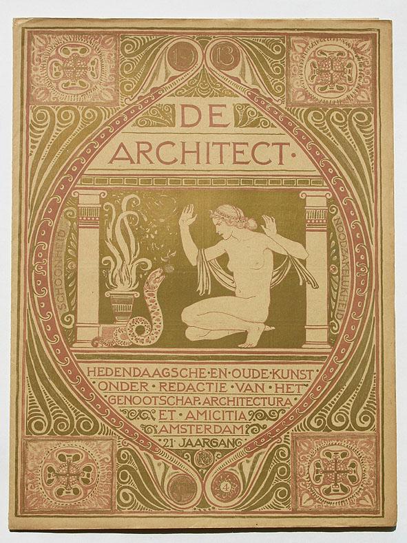 Tijdschrift - De Architect, omslagontwerp: Richard N. Roland Holst (1912)