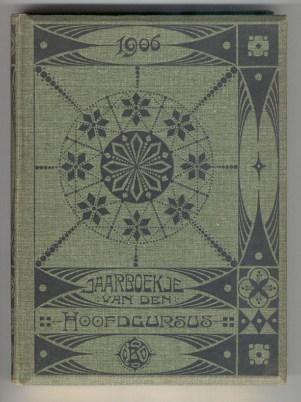Almanak Minerva (officiersopleiding) - Jaarboekje van den hoofdcursus te Kampen 1906, ontwerp: Bart Klunne