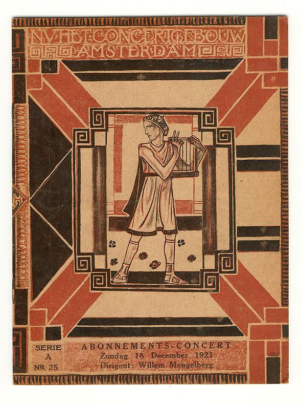 Programmaboekje - N.V. Het Concertgebouw Amsterdam, omslagontwerp: Richard Roland Holst (1921)