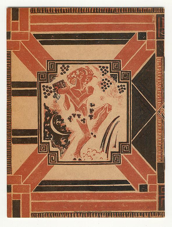 Programmaboekje (achterzijde) – N.V. Het Concertgebouw Amsterdam, omslagontwerp: Richard Roland Holst (1921)