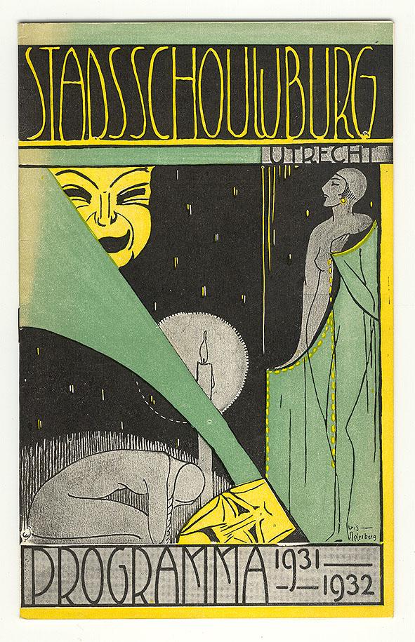 Programma Stadsschouwburg Utrecht 1931-1932, omslagontwerp: Cris Agterberg