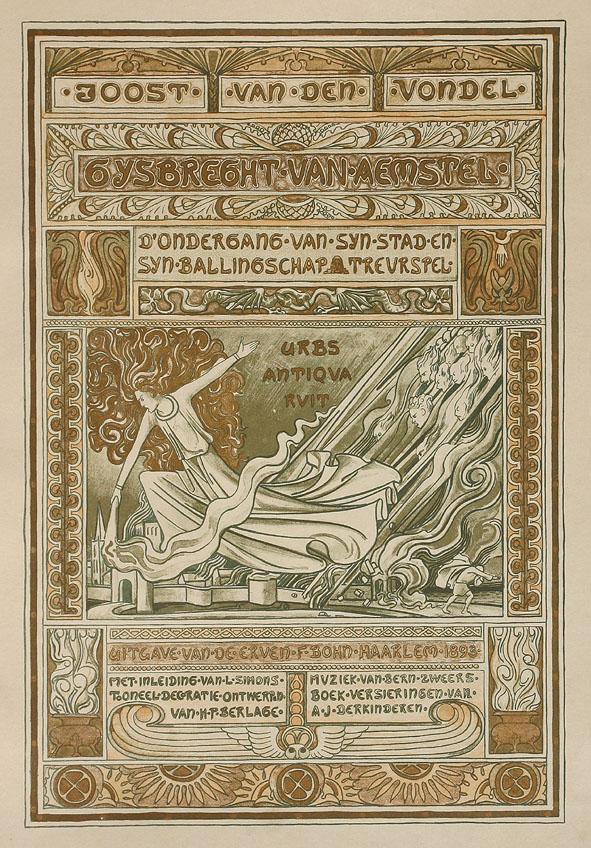 Titelpagina - Gijsbrecht van Aemstel, ontwerp: Antoon Derkinderen (1894)