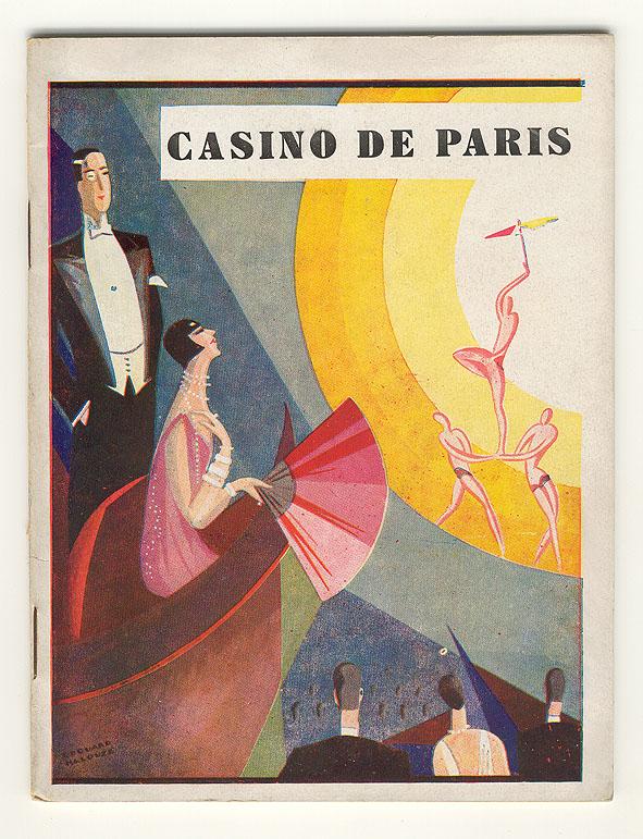 Programmaboekje - Casino de Paris, omslagontwerp: Edouard Halouze (1932)
