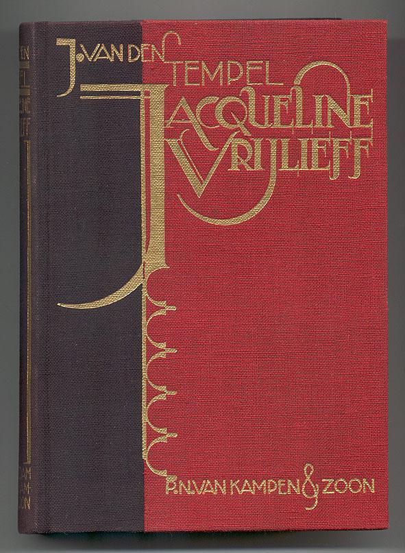 Jacqueline Vrijlieff - J. van den Tempel, bandontwerp: Albert Hahn jr. (1931)