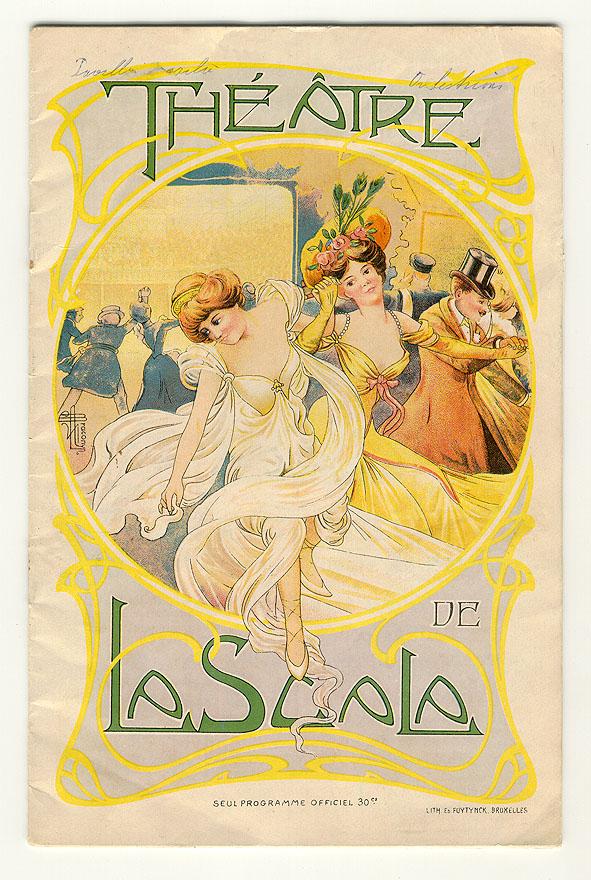 Programmaboekje - Théâtre de la Scala - Brussel, ca. 1900