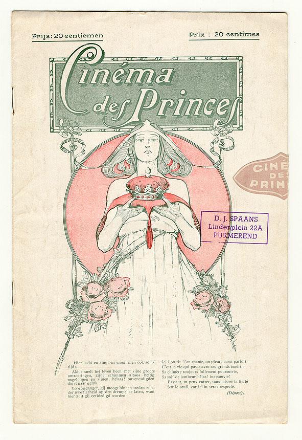 Programmaboekje - Cinéma des Princes - Brussel, 1916