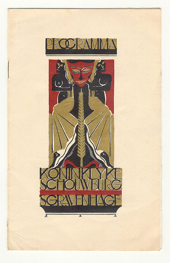 Programma Koninklijke Schouwburg 's Gravenhage, omslagontwerp: Jeanne Bieruma Oosting (1932)