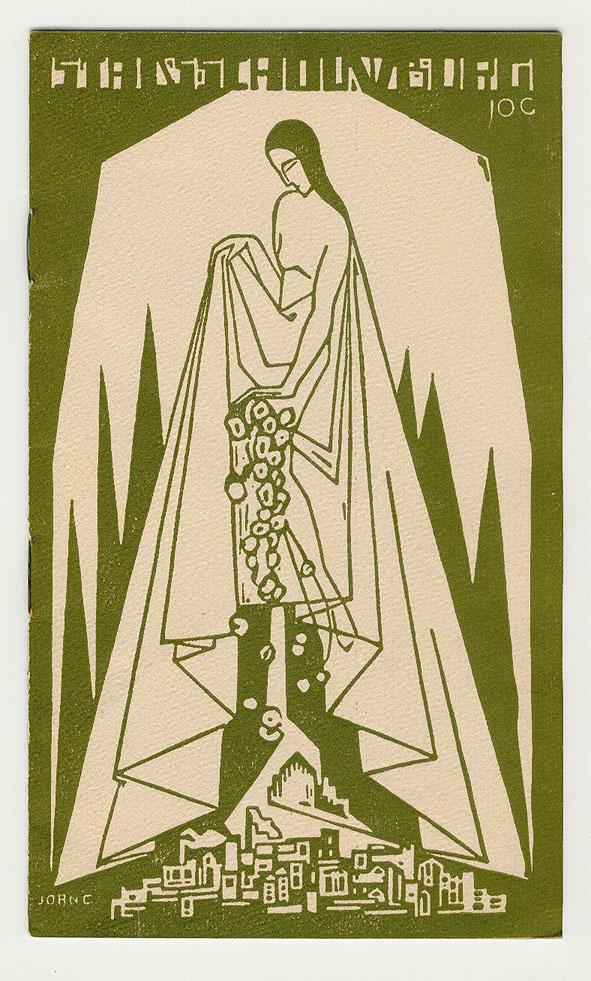 Programmaboekje Stadsschouwburg Amsterdam, omslagontwerp: Joan Colette (1922)