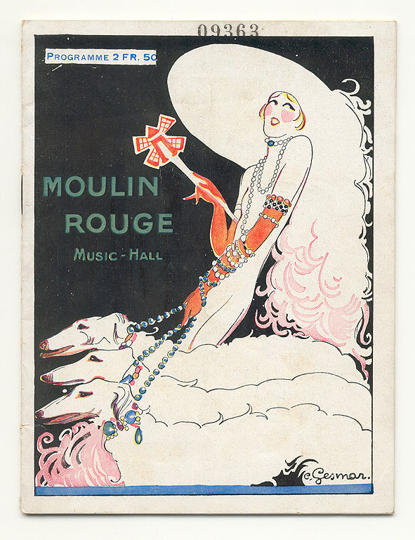 Programmaboekje - Moulin Rouge, omslagontwerp: Charles Gesmar (ca. 1925)