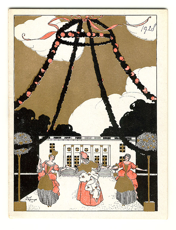 Programmaboekje - Théâtre de Paris, omslagontwerp: Paul Degranges (1927)