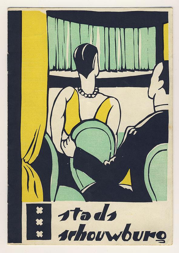 Programmaboekje - Stadsschouwburg Amsterdam, ontwerp: Valentijn van Uytvanck (1927)
