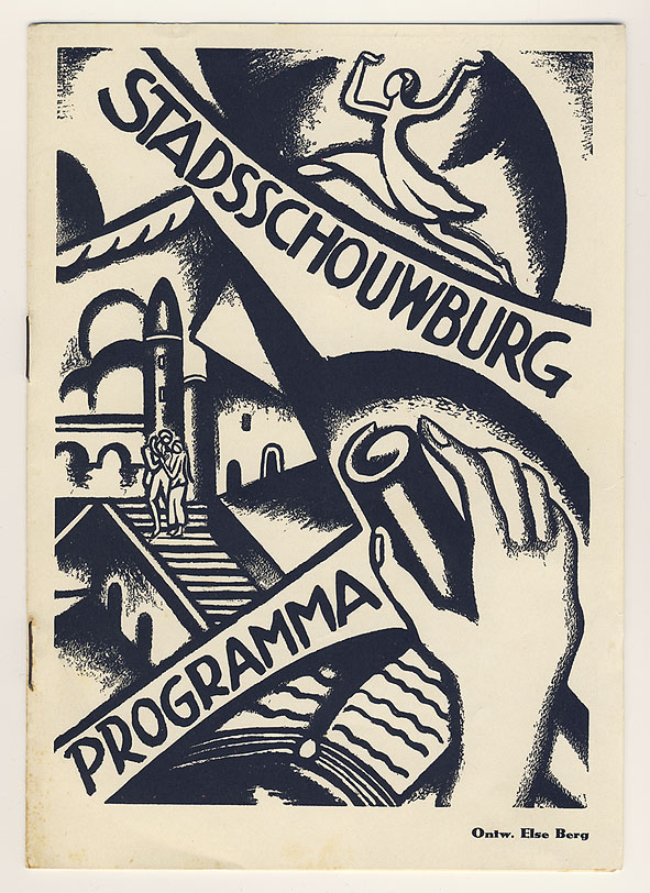 Programmaboekje - Stadsschouwburg Amsterdam, omslagontwerp: Else Berg (1930)