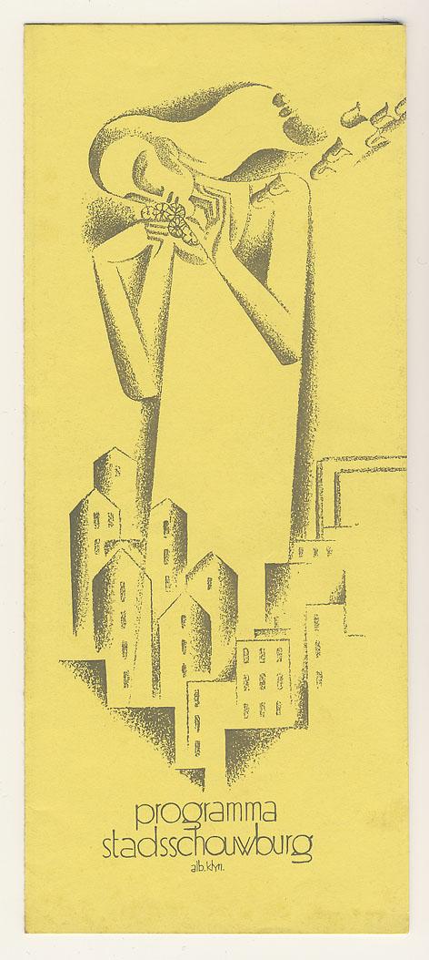 Programma Stadsschouwburg Amsterdam, omslagontwerp: Albert Klijn (ca. 1932)