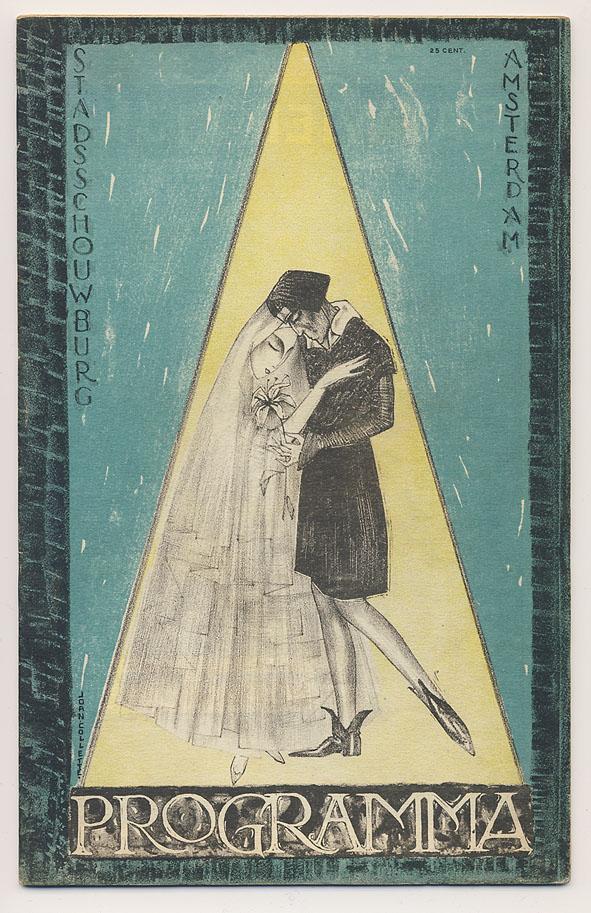 Programma Stadsschouwburg Amsterdam, omslagontwerp: Joan Collette (1922)