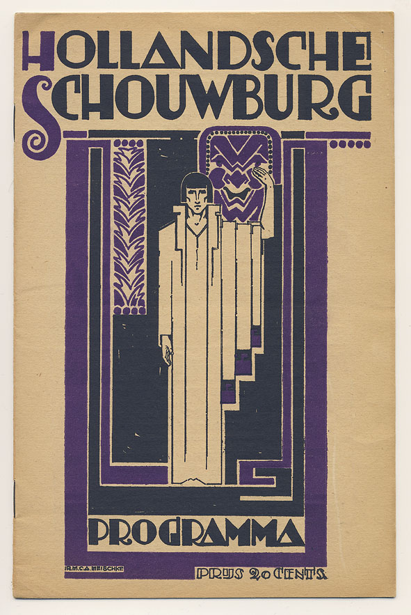 Programma Hollandsche Schouwburg, omslagontwerp: Mattheus Carel August Meischke (1922)