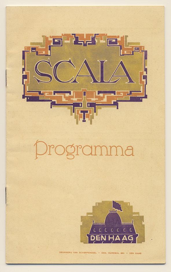 Programmaboekje Scala Theater (1923), ontwerper onbekend