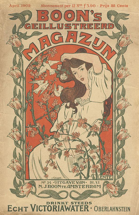 Boon's Geïllustreerd Magazijn (lentenummer), omslagontwerp: Johann Georg van Caspel (1902)