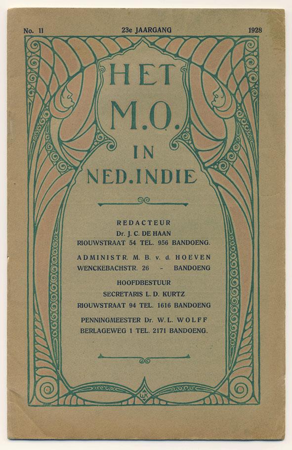Het Middelbaar Onderwijs in Nederlands-Indië (1928), ontwerp: WK (?)