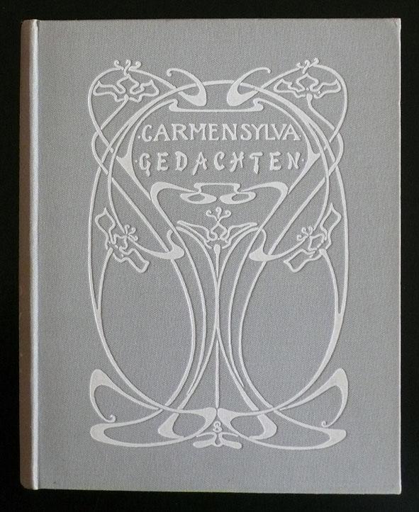 Gedachten van Carmen Sylva, bandontwerp: Annie Sipkema (ca. 1900)