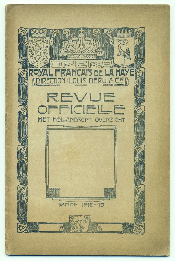Revue Officielle - Opera Royal Francais de La Haye, omslagontwerp: Paul Cauchie (1918)