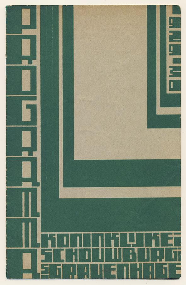 Programma - Koninklijke Schouwburg 's Gravenhage 1929-1930