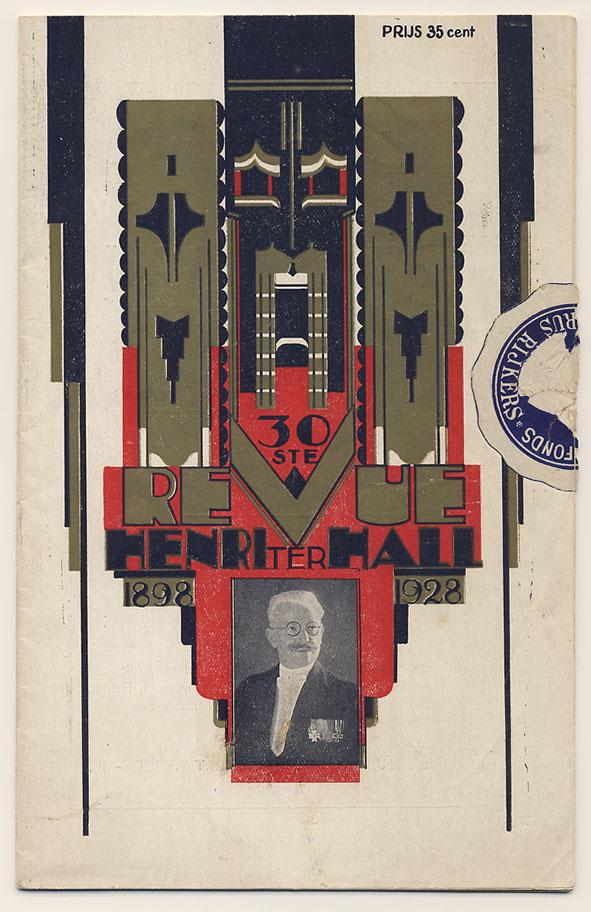Programmaboekje - 30ste Revue Henri ter Hall, omslagontwerp: Chris van der Hoef (1928)