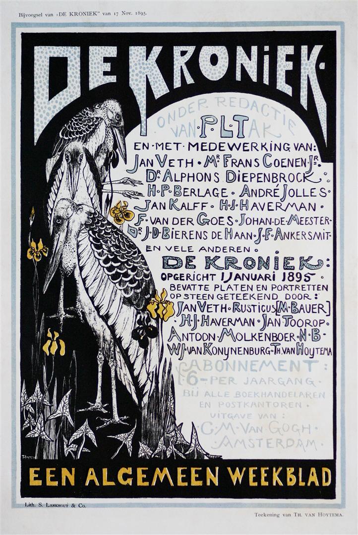 Raambiljet - De Kroniek, ontwerp: Theo van Hoytema (1895)