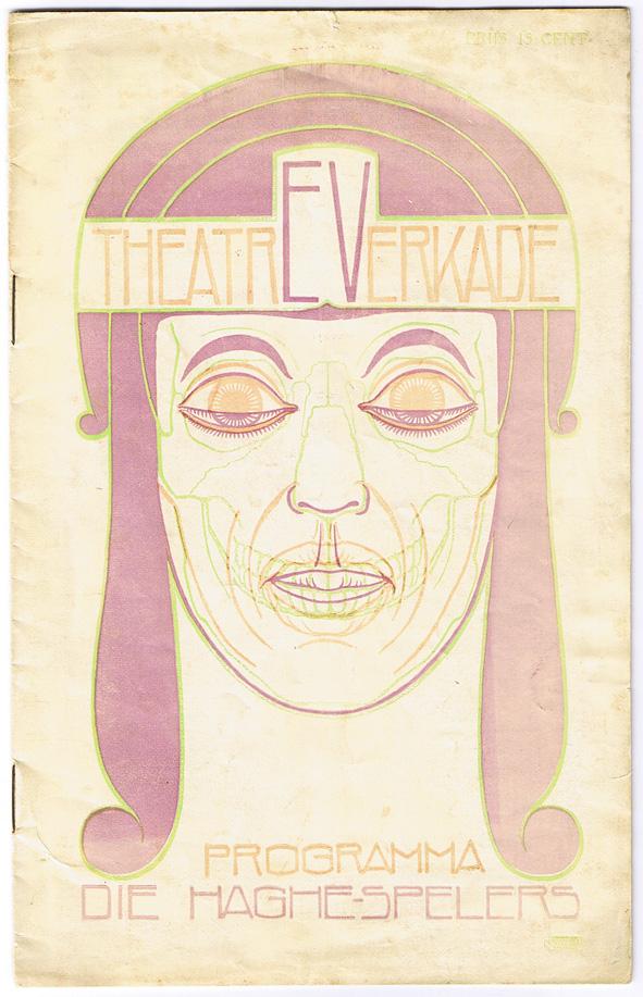 Programma Theater Verkade - Die Haghe-spelers, omslagontwerp: Chris Lebeau (1914)