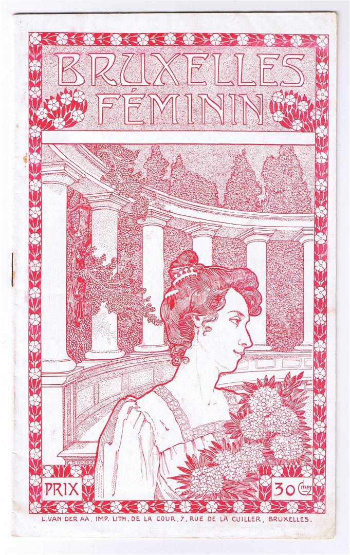 Programmaboekje - Bruxelles Féminin, omslagontwerp: G. Roosen (1905)