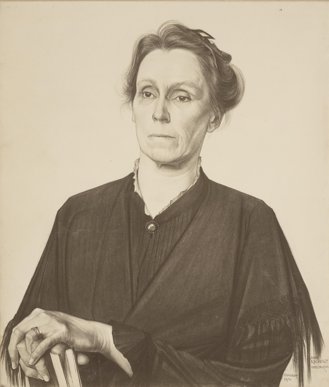 Portret van Henriette Roland Holst-van der Schalk, door M. de Klerk (1921)