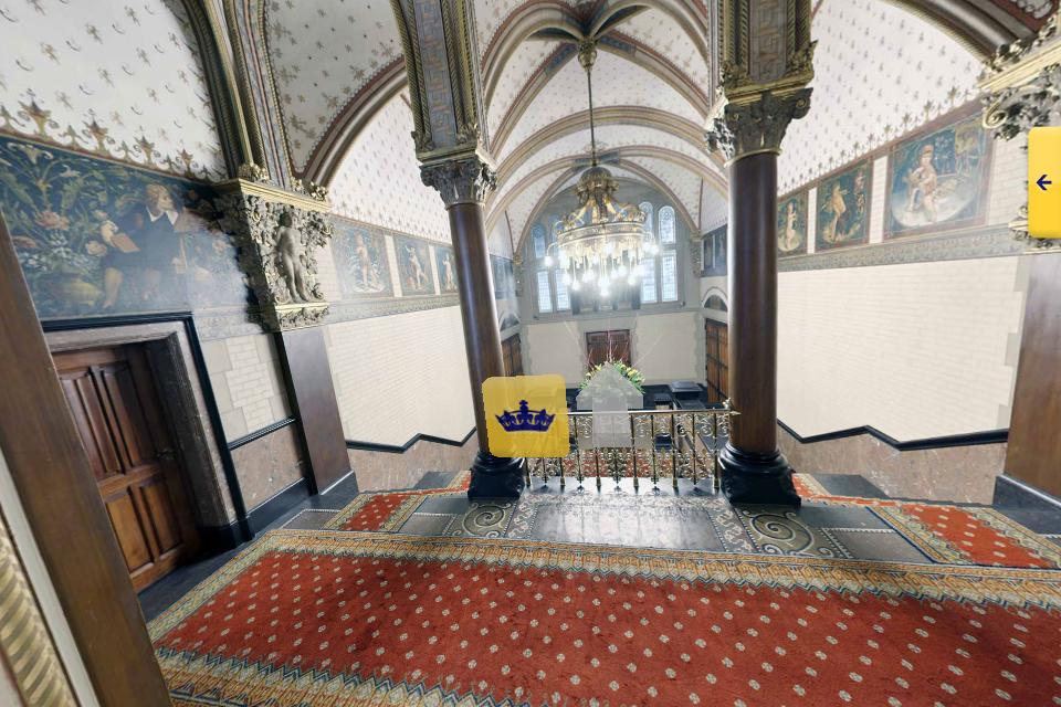 Trappenportaal koninklijke wachtkamer Amsterdam CS (foto: NS)
