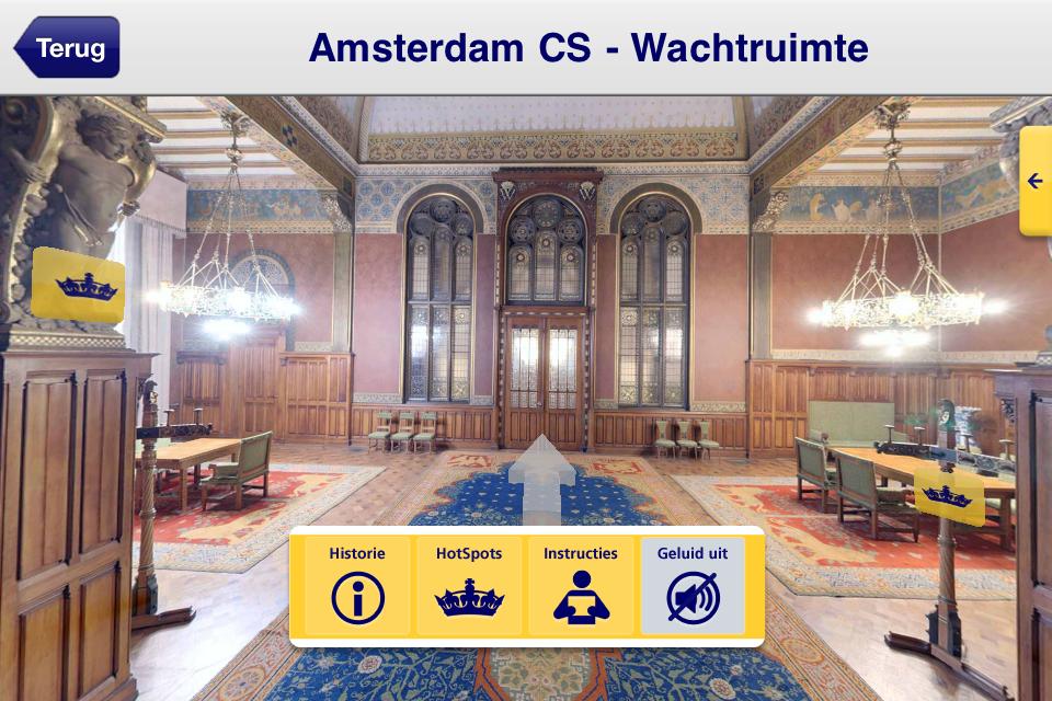 Koninklijke wachtkamer Amsterdam CS (foto: NS)