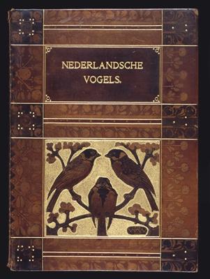 boekband koninklijk huis: Nederlandsche vogels
