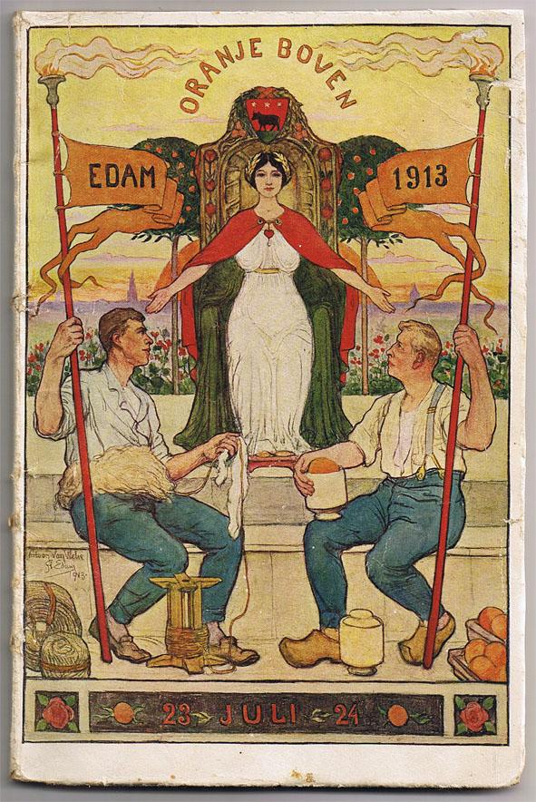 Programmaboekje Oranjefeesten Edam 1913, ontwerp: Antoon van Welie