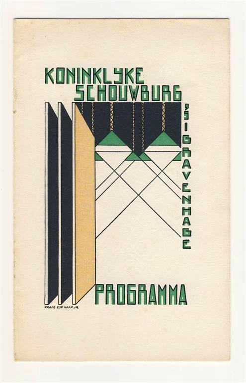 Programma Koninklijke Schouwburg 's Gravenhage. Omslagontwerp: Frans zur Haar jr. In goede staat (zonder nietjes). Prijs: € 10,-