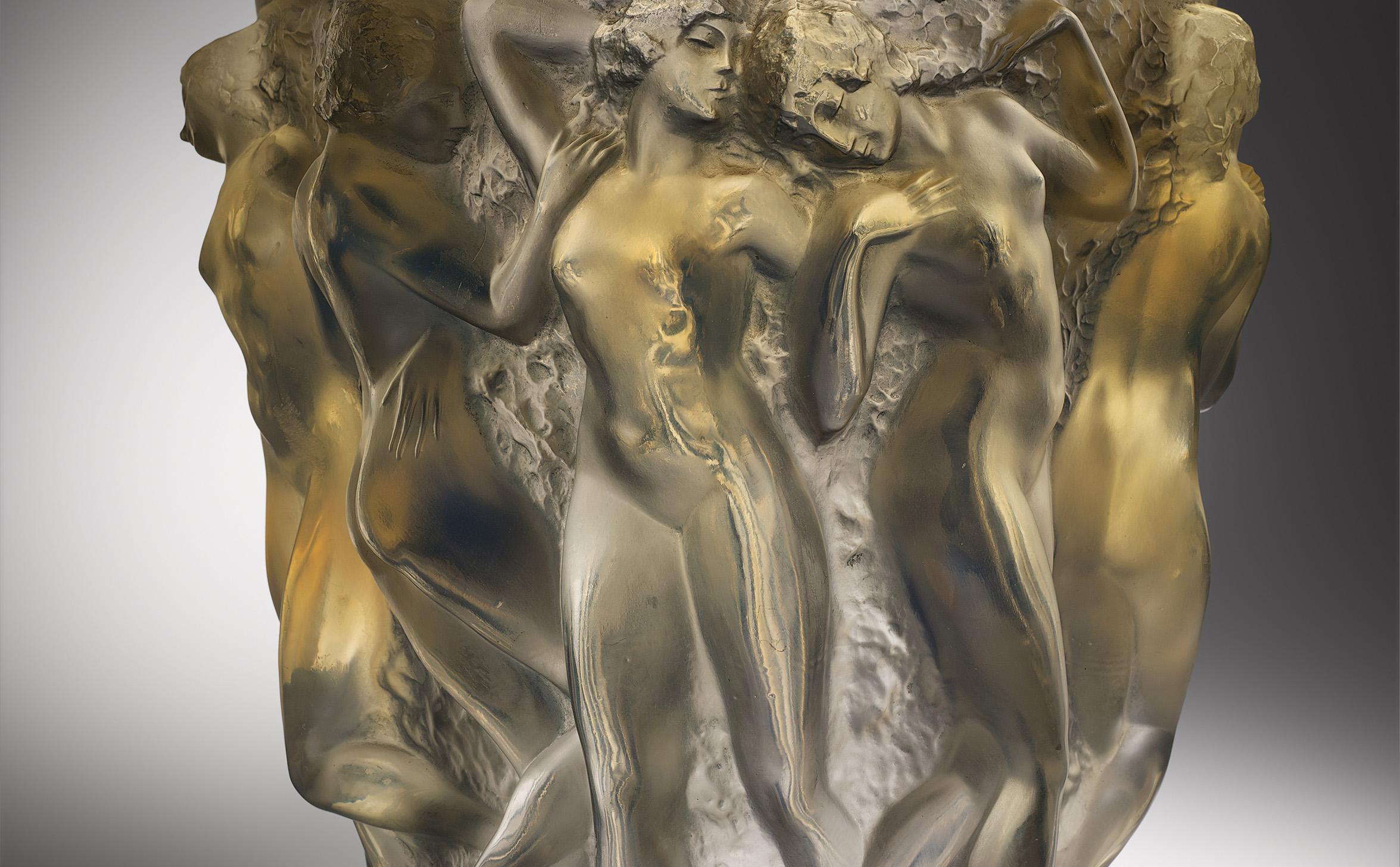 René Lalique, vaas Bacchantes, 1927, privécollectie (foto: Gemeentemuseum)