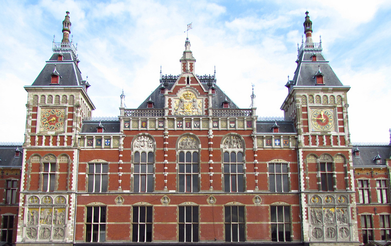 Voorgevel Centraal Station Amsterdam