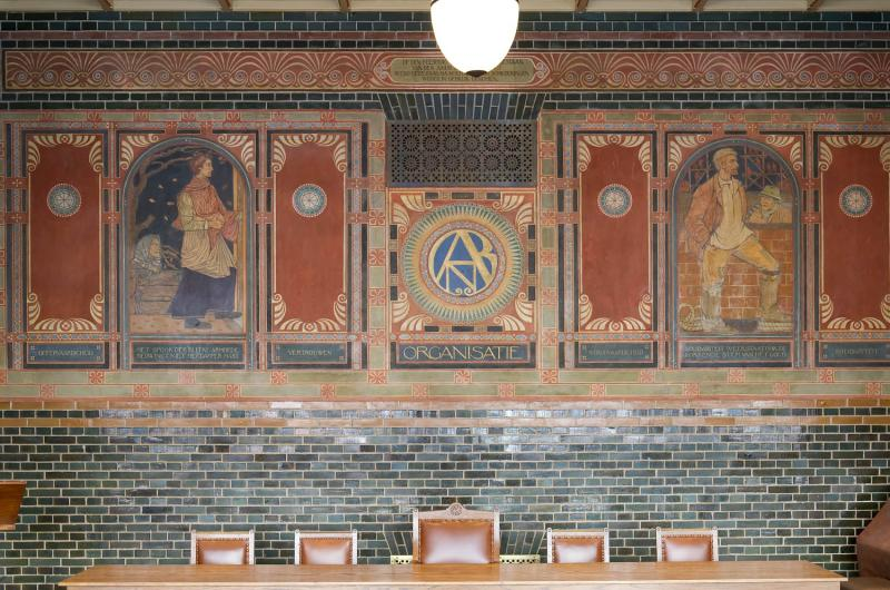 Burcht van Berlage bondsraadzaal muurschildering Roland Holst