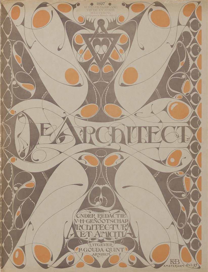 De Architect, omslagontwerp: Karel de Bazel (1895)