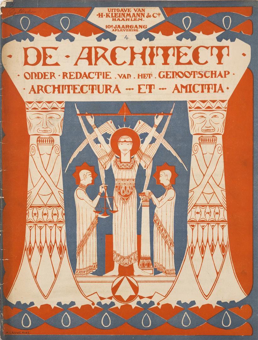 De Architect, omslagontwerp: Mathieu Lauweriks (1899)