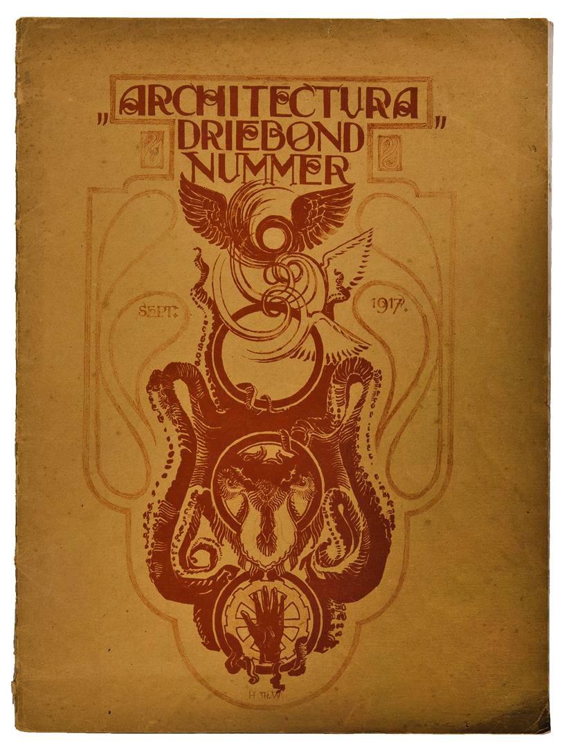 Architectura Driebondnummer, ontwerp: Hendrik Wijdeveld (1917)