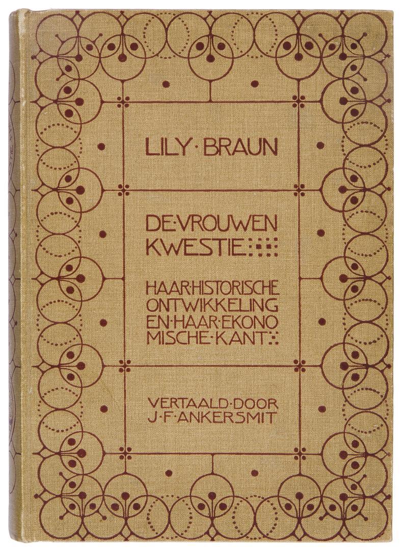 De vrouwenkwestie - Lily Braun, bandontwerp: Sjoerd de Roos (1904)