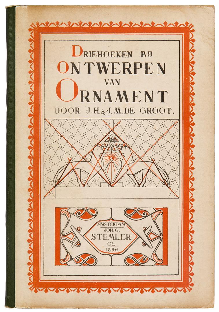 Driehoeken bij het ontwerpen van ornament, bandontwerp: Jan Hessel de Groot (1896)