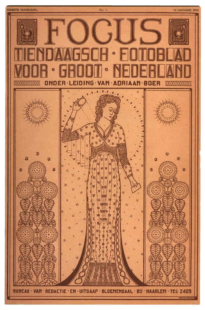 Focus - tiendaagsch fotoblad voor groot Nederland, omslagontwerp: Hans Beers (1914, facsimile uit 1989)